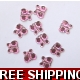 Pkt of 100 MINI BABY PINK DIAMANTIE BUTTERFLY'S