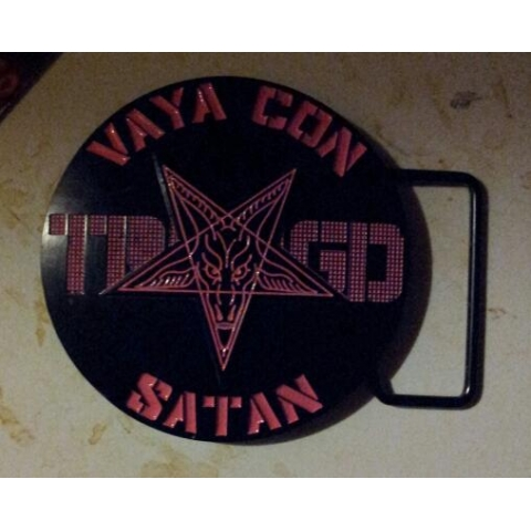 Vaya Con Satan Belt Buckle