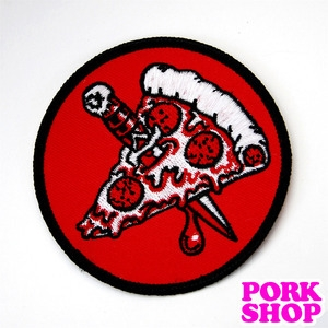 Pizza Knife Patch /  Pin