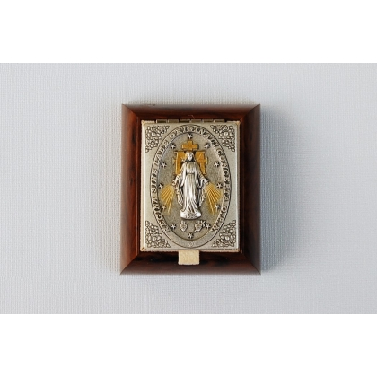Rosary Box with Relief of Miraculous Medal