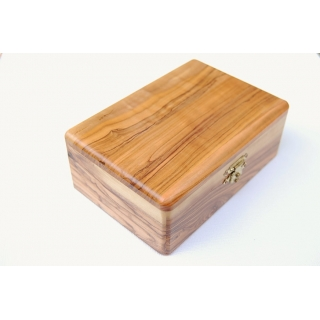 Olive Wood Rosary Box f..