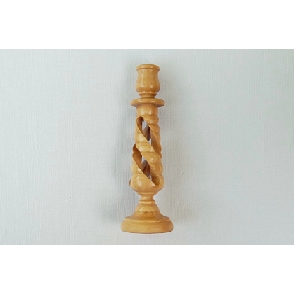 Olive Wood Candlestick from the Holy Land