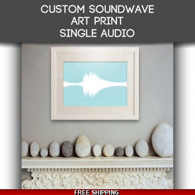 Art Print Single Audio Sound Wave Art