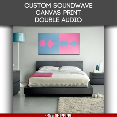 Canvas Double Audio Sound Wave Art