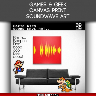Canvas Geek Sound Wave ..