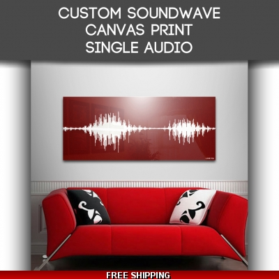 Canvas Single Audio Sound Wave Art