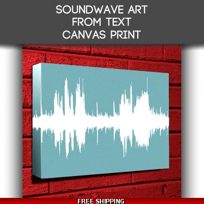 Canvas Sound Wave Art From Text