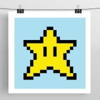 8bit and game geek art prints