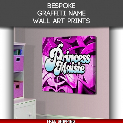 Graffiti Name Canvas