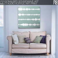Acrylic Multi Audio Sound Wave Art