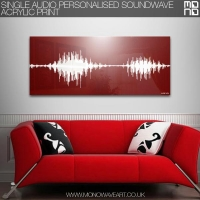 Acrylic Single Audio Sound Wave Art