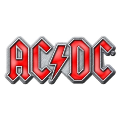 AC/DC 'Red Logo' Metal Pin Badge