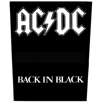 AC/DC 'Back In Black' Backpatch