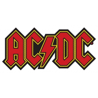 AC/DC 'Logo Cut Out' Woven Patch