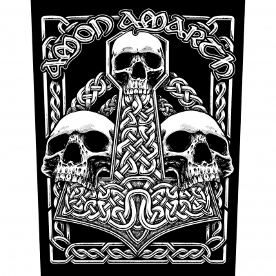 Amon Amarth 'Three Skulls' Backpatch