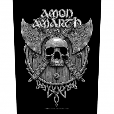 Amon Amarth 'Skull & Axes' Backpatch