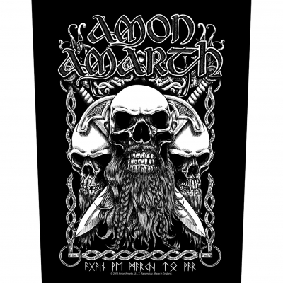 Amon Amarth 'Bearded Skulls' Backpatch