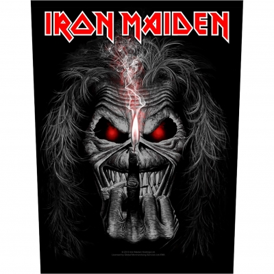 Iron Maiden 'Eddie Candle Finger' Backpatch