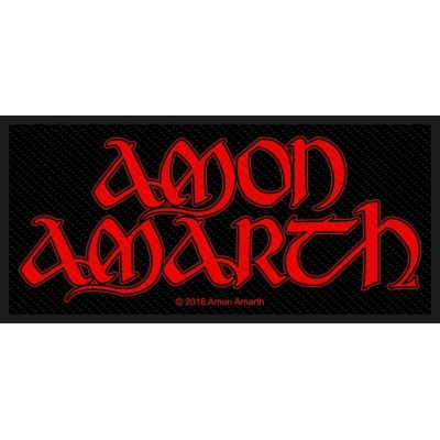 Amon Amarth 'Red Logo' Woven Patch