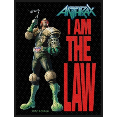 Anthrax 'I Am The Law' Woven Patch