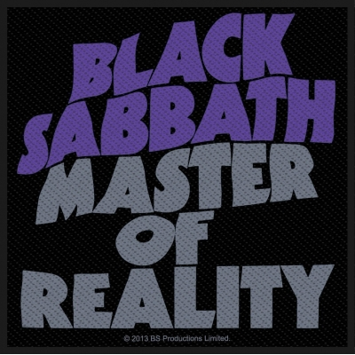 Black Sabbath 'Master Of Reality' Woven Patch