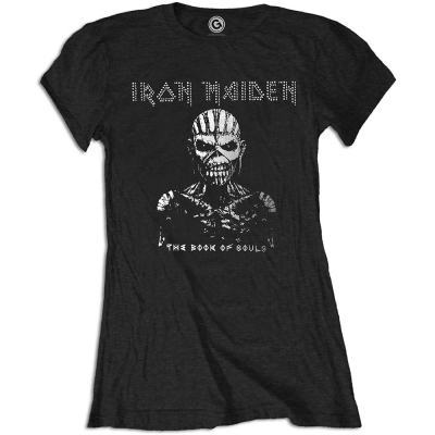 "IRON MAIDEN ""THE BOOK OF SOULS"" GIRLIE WITH RHINESTONE APPLICATION"
