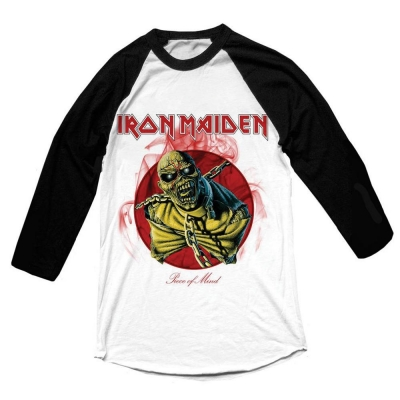 "IRON MAIDEN ""PIECE OF MIND"" BASEBALL SHIRT"