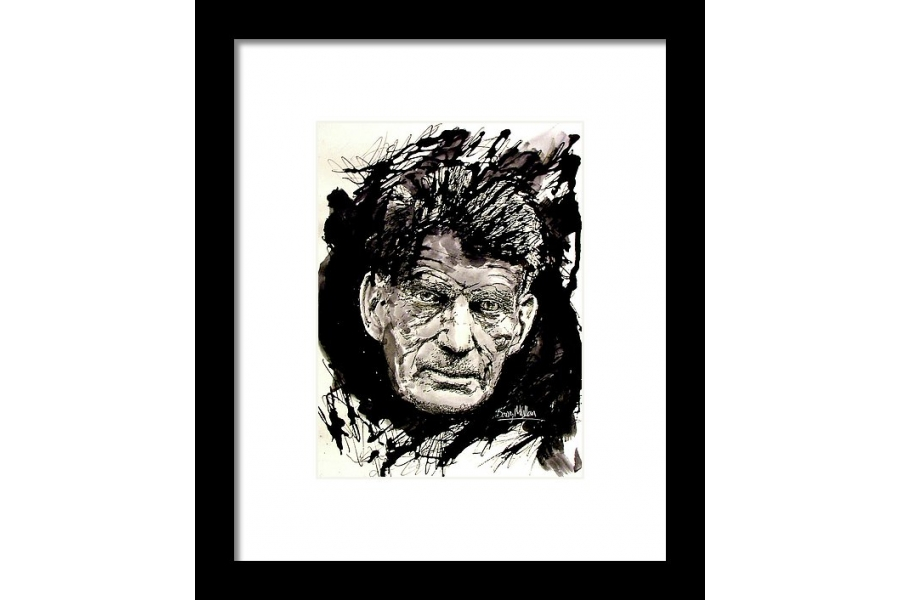 Samuel Beckett Framed P..