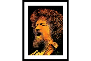 Luke Kelly Framed Print