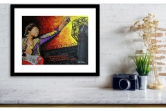 The Jimi Hendrix Experience - All Along The Watchtower Framed Print