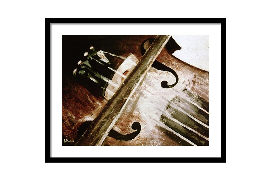 Violin and Bow Framed P..