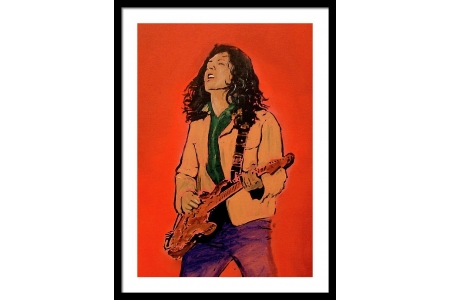Rory Gallagher Guitar Framed..