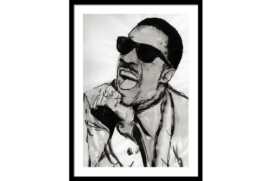 Stevie Wonder Framed Pr..