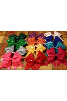 Confetti sequin Cheer Bows *..