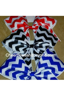 Solid Glitter Chevron Cheer ..