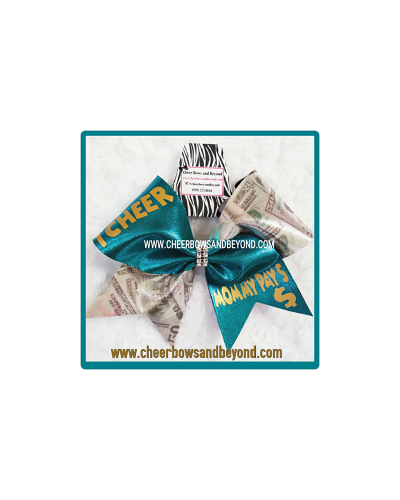 I Cheer Daddy/Mommy Pays Cheer Bow *Several Color Options*