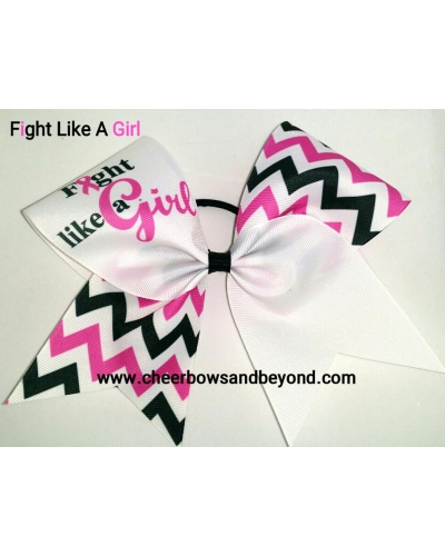 Fight Like A Girl Sublimation Tick Tock Chevron Cancer Awareness Bow