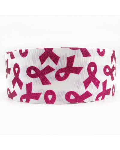 Breast Cancer Ribbon 3 Inch wide or purchase bow option