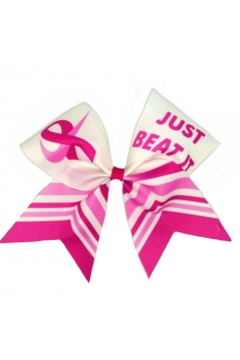 Just Beat It Breast Cancer Bow
