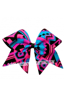 Neon Aztec Cheer Bow*Tw..