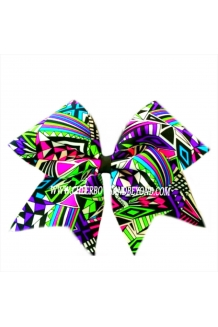 Aztec Neon Cheer Bow