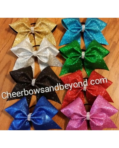 Hollywood Glitter Extreme Cheer Bow *Choose to add word/name*