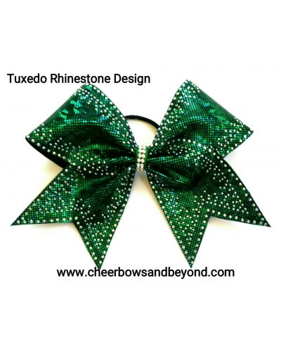 Tuxedo Rhinestone Cheer Bow *Several Colors*