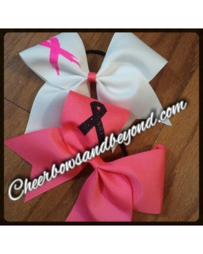 Breast Cancer Cheer Bows *Size & Color Options*