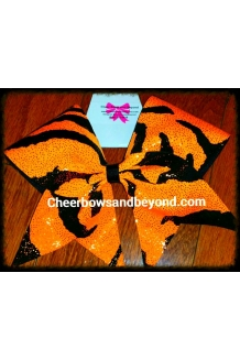 Tiger Holographic Cheer Bow