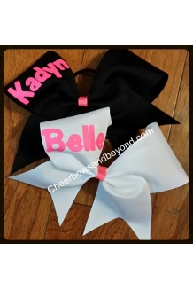 Personalized Solid Cheer Bow*Choose bow & Font Color*