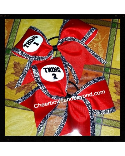 Thing 1 & Thing 2 Cheer & Dance Bow *Option to add Thing 3,4 ETC*