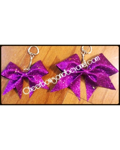 Mini Bow Glitter Key Chain Several Color Options
