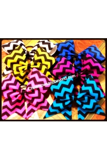 Chevron Cheer Bows Several C..