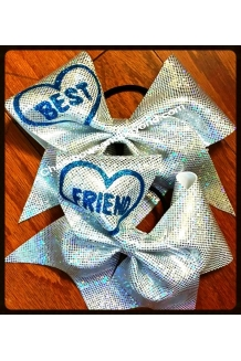 Holographic BFF Cheer Bows*S..